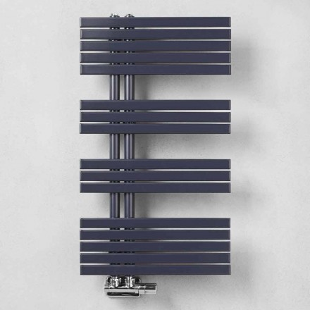 Håndklædevarmer til moderne design i stål ved 386 Watt - påfugl