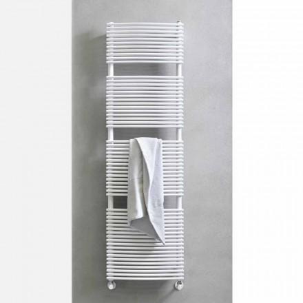 Lodret design Hydraulisk badeværelseshåndklædevarmer i stål 1013 W - Griffin