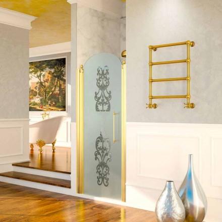 Elektrisk håndklædevarmer Scirocco H Caterina guld i messing, design