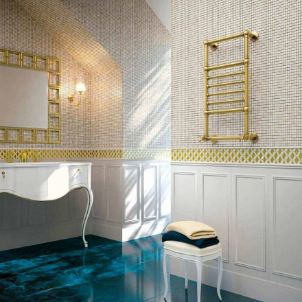Scirocco H Amira hydraulisk håndklædevarmer i guld messing lavet i Italien
