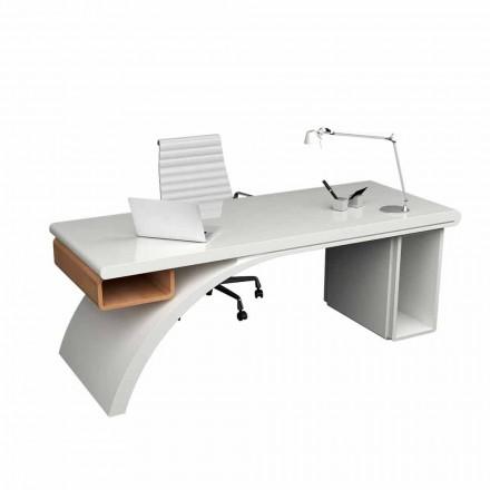 Kontorbord lavet af træ og Solid Surface Bridge, lavet i Italien