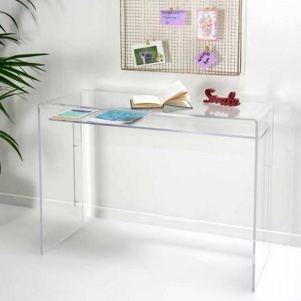 Moderne skrivebord i gennemsigtig plexiglas produceret i Italien, Barga