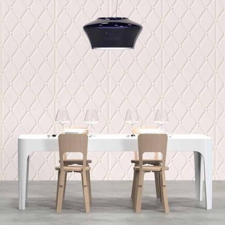 Rektangulært skrivebord / spisebord, moderne design, Merlot