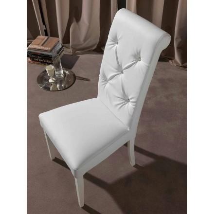 Klassisk stol med tuftet arbejde og diamanter - Diana