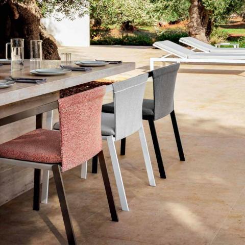 Udendørs stol med eller uden pude, aluminiumsdesign 3 finish - Filomena
