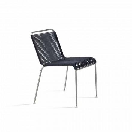 Design udendørs stol i stål og ledning fremstillet i Italien - Madagaskar1