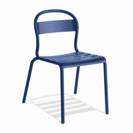 Udendørs stabelbar aluminiumsstol fremstillet i Italien, 4 stykker - Ulyssa