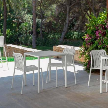 Trocadero moderne udendørs stabelbar stol af Talenti, lavet med aluminium