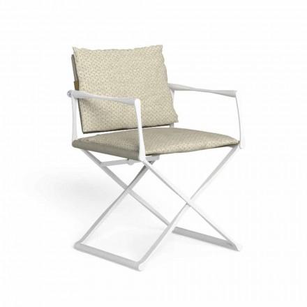 Udendørs foldet direktørstol med luksuriøse armlæn - Riviera af Talenti