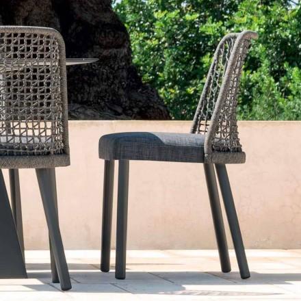 Varaschin Emma udendørs stol i stof og aluminium design