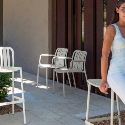 Trocadero have stol med armlæn af Talenti, lavet med aluminium