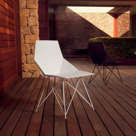 Moderne stol Faz samling Vondom, polypropylen og rustfrit stål, 4 stykker