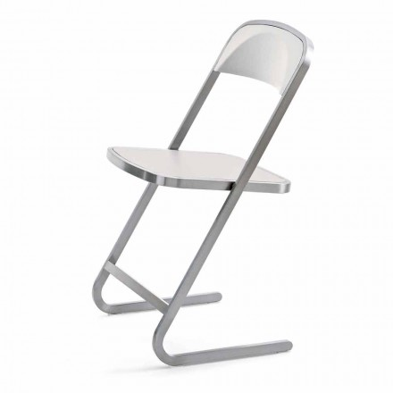 Stabelbar havestol i stål moderne design fremstillet i Italien - Boston