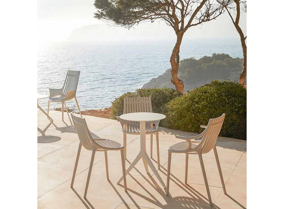 4-delt stabelbar udendørs spisestol af plast - Ibiza fra Vondom