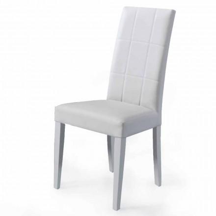Polstret opholdsstolstol med fremstillet i Italien bøgbase, 4 stykker - Fermali