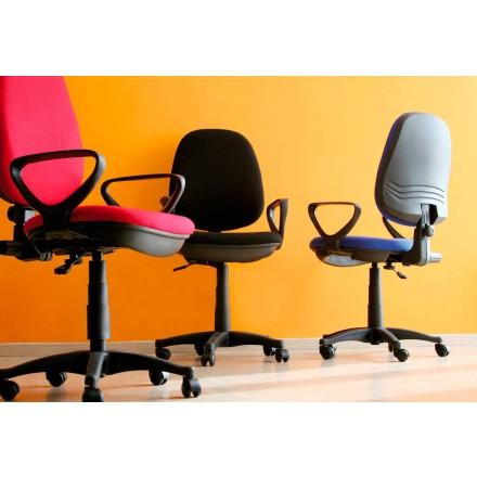 Ergonomisk roterende kontorstol med armlæn i væv - Concetta