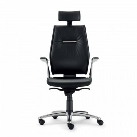 ergonomisk kontorstol i koskind kernelæder typen Ines