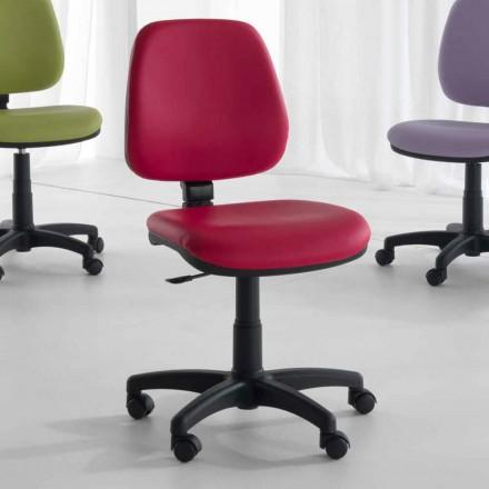 Roterende og ergonomisk kontorstol i væv og økolæder - Danila