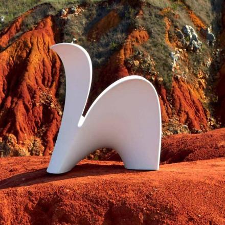 Designstol til indendørs eller udendørs i farvet plast 2 stykker - lilje fra Myyour