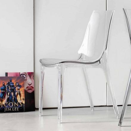 Moderne designstol, komplet i polycarbonat - Gilda
