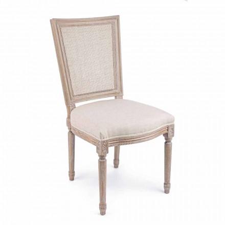 Klassisk designstol med træstruktur 2 stykker Homemotion - Murea