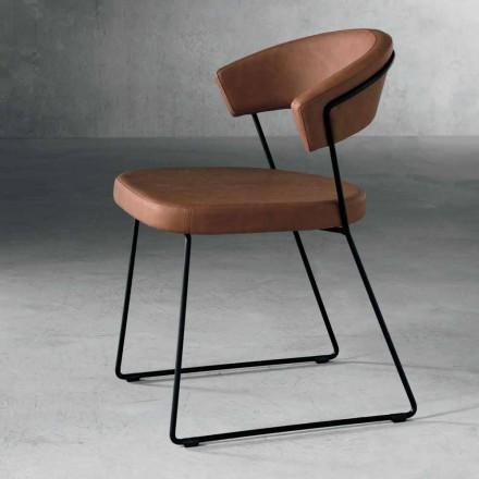 Design stol i metal og stof produceret i Italien Formia