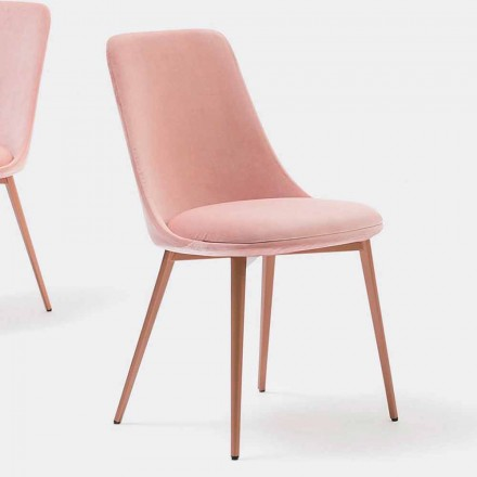 Designstol i stof og metal fremstillet i Italien - Itala
