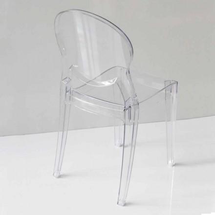 Moderne designstol i polycarbonat i 2 farver - Dalila