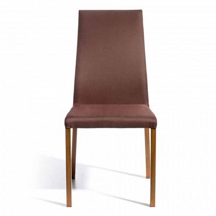 Design stol dækket af Amalia stof, H96 cm, lavet i Italien