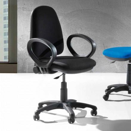 Moderne roterende kontor ergonomisk stol i øko-læder eller væv - Calogera