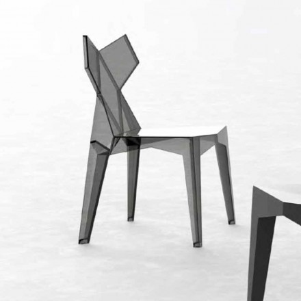 Udendørs stabelbar designstol i polycarbonat, 4 stykker - Kimono fra Vondom