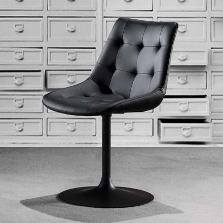 Drejestol, øko-lædersæde med tuftet arbejde - Aura