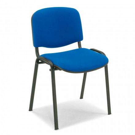 Ubetrukket stol til et venteværelse med Black Metal Base - Carmela