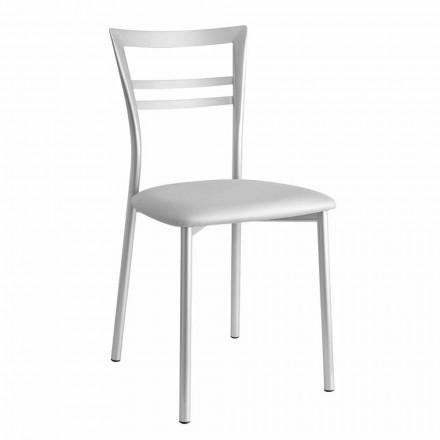 Polstret køkkenstol i moderne design fremstillet i Italien, 2 stykker - Go