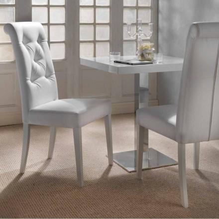 Design polstret stol med tuftet arbejde - Diana