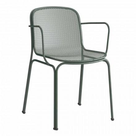 Stabelbar udendørs metalstol fremstillet i Italien, 4 stykker - Verna