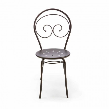 Stabelbar udendørs stol i metal fremstillet i Italien, 2 stykker - autoritet