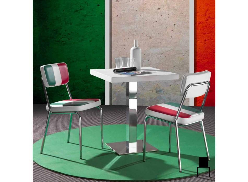 Øko-læder stol med italiensk flag af Banda design