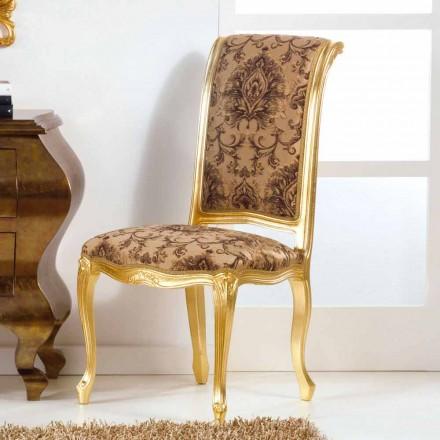 Træstol med klassisk stil med bladguld ben Bellini