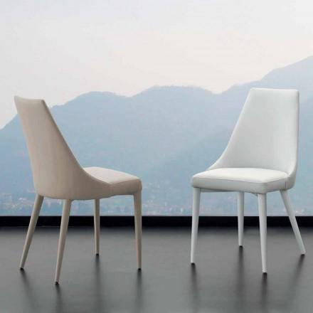 Metal stol fuldt dækket i imiteret læder Nepitella