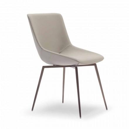 Moderne spisestol med læder fremstillet i Italien - Bonaldo Artika
