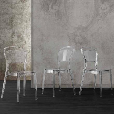 Moderne design gennemsigtig polycarbonatstol, fremstillet i Italien Ferrara