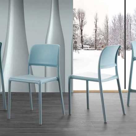 Moderne designstol i harpiks og glasfiber, fremstillet i Italien Holiday