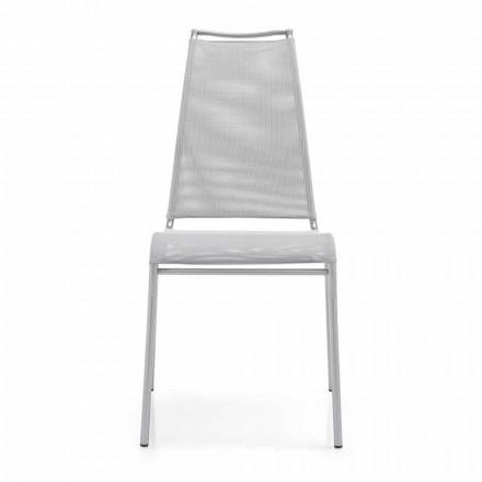Levende stol med høj ryg i satinstål Fremstillet i Italien, 2 stykker - Lufthøj