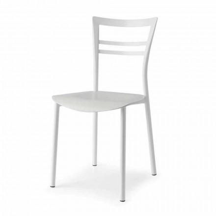 Levende designstol i metal og flerlags træ lavet i Italien, 2 stykker - Go