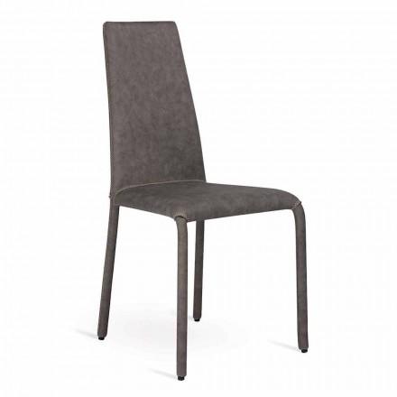 Moderne stole i imiteret læder lavet i Italien, Gazzola