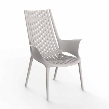 Lounge stol med armlæn til udendørs i plastik 4 stykker - Ibiza af Vondom