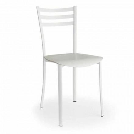 Moderne stol med udskifteligt sæde i egetræ lavet i Italien, 2 stykker - ess