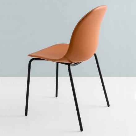 Connubia ved Calligaris Academy moderne stol i metal og læder