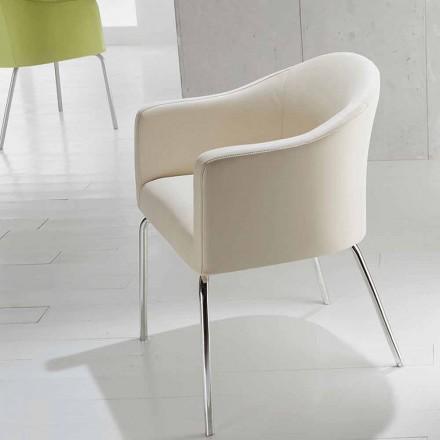 Moderne stol i imiteret læder Moon